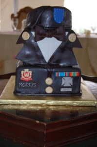 military uniform groom's cake
