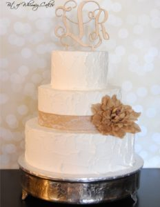 rustic cake with monogram